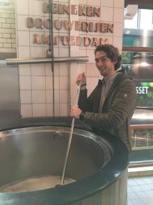 The Heineken factory in Amsterdam